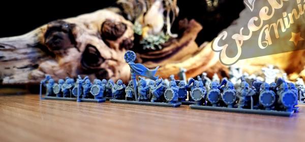 Dwarven Lords - Full Warrior Regiment 3 (round shield, horn banner)