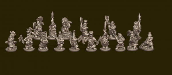 Dwarven Lords - Individual Berserkers Pack (with Kilts)