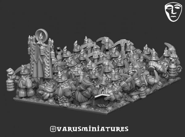 Dwarven Lords - Full Dwarven Miners Regiment